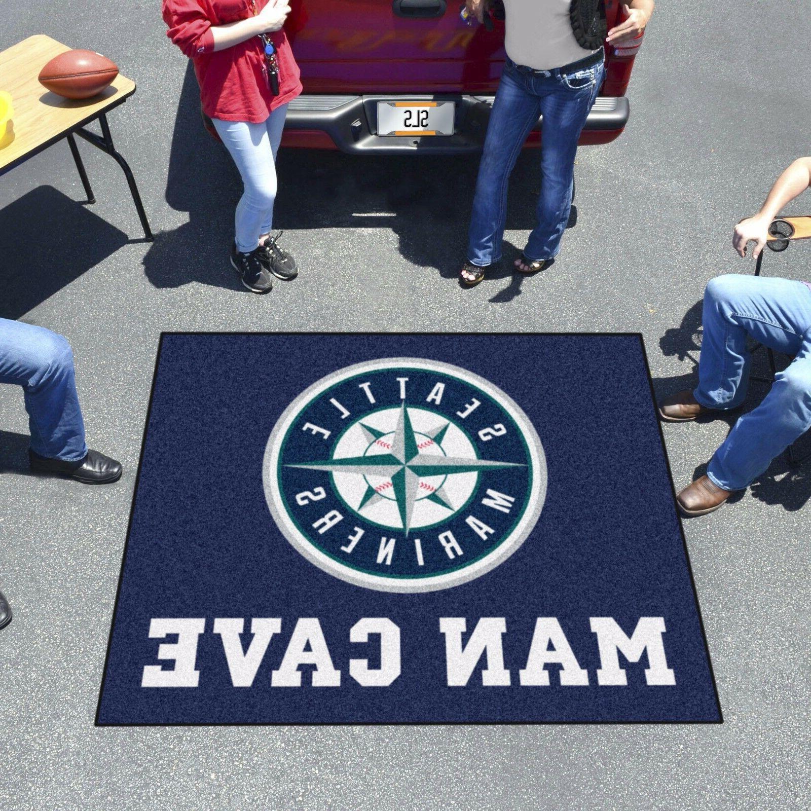 Seattle Mariners Man 5' X Tailgater Area Rug Floor