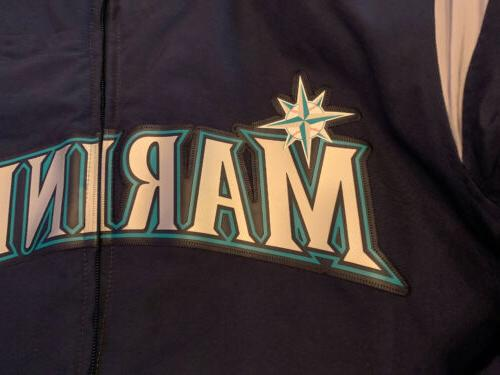 Majestic Seattle Mariners Mens Jacket Therma Navy Baseball