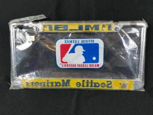 seattle mariners mlb baseball 80s vintage license