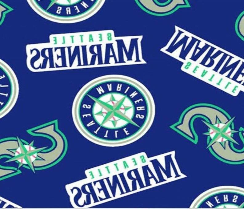 seattle mariners mlb fleece fabric 60 wide