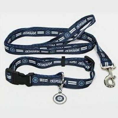 seattle mariners mlb pet dog set collar