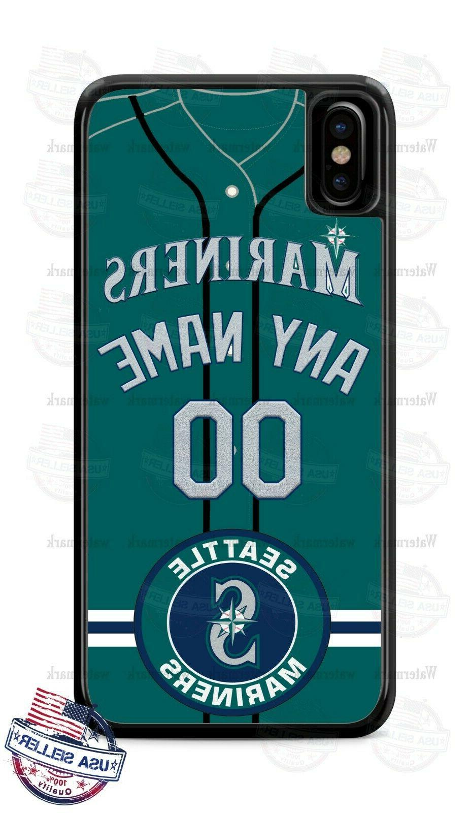 seattle mariners phone case cover with name