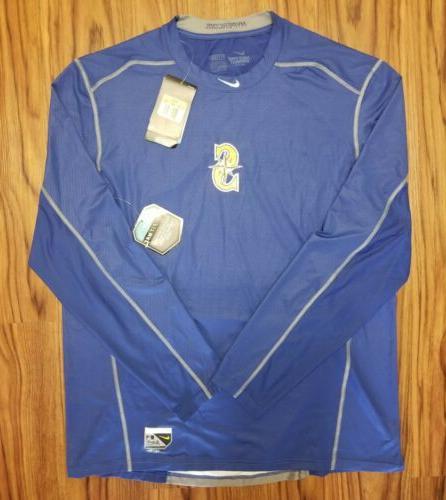 seattle mariners pro combat drifit warmup shirt