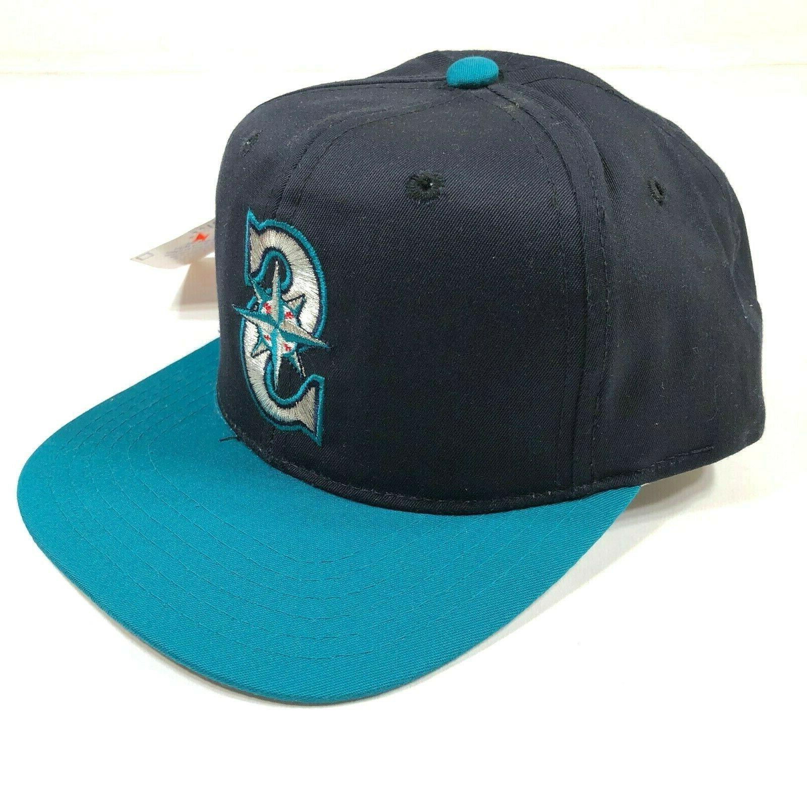 seattle mariners snapback hat cap navy blue