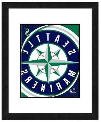 seattle mariners team logo framed print picture