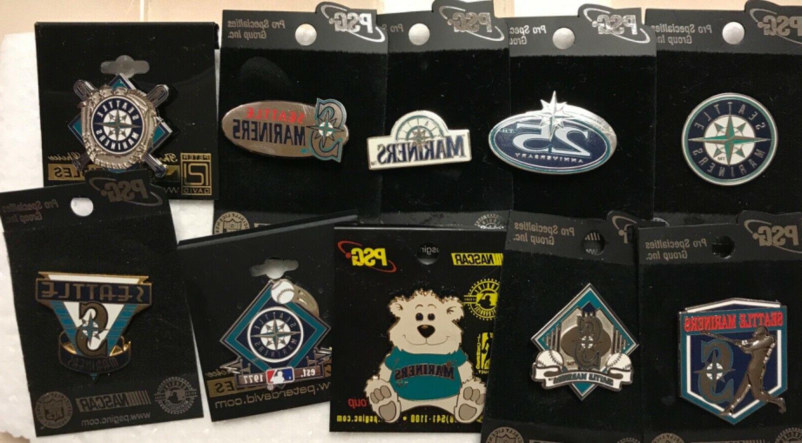 set of 10 seattle mariners logo licensed