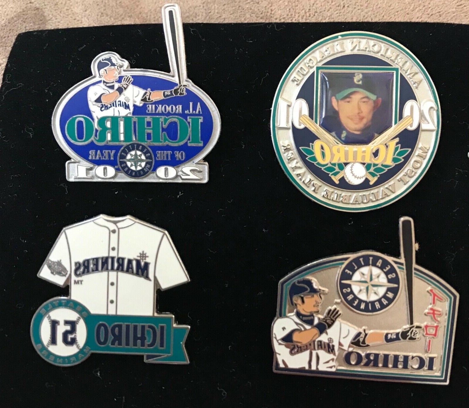 set of 4 seattle mariners ichiro licensed