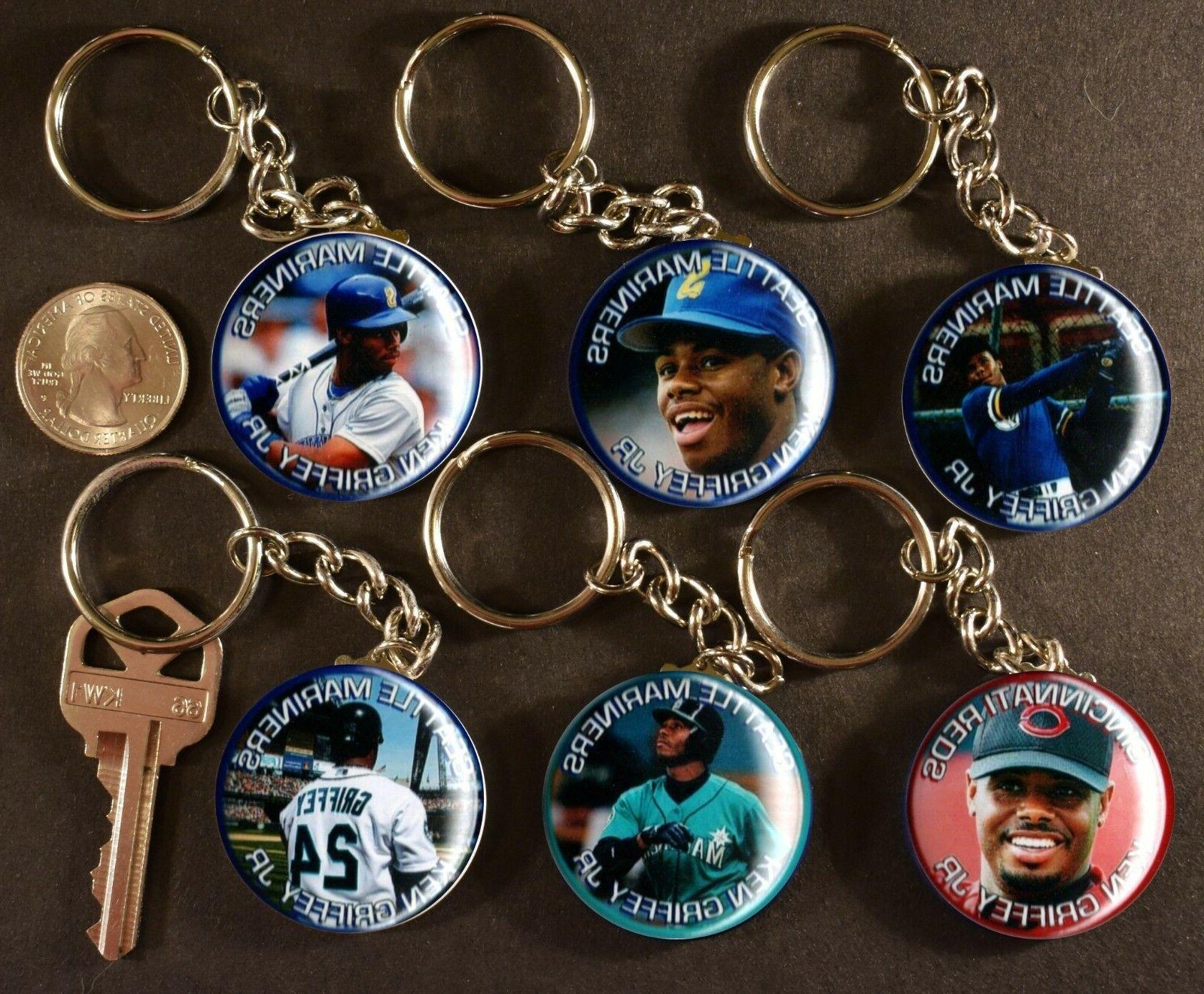 set of 6 key chains ken griffey