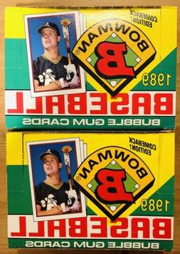 Lot Of 2 1989 Unopened Sealed Baseball Bowman Wax Boxes 72 T