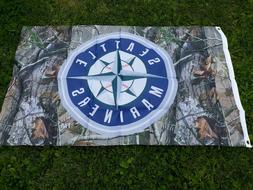 Lot of 4 Seattle Mariners Camo 3 x 5 Flag