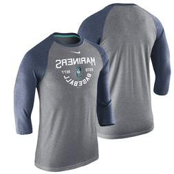 mens S or L Nike MLB team apparel seattle mariners tri-blend