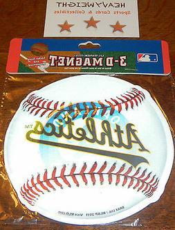 MLB 3D BASEBALL MAGNET *** USE INSIDE OR ON YOUR CAR ***