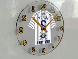 "MLB BASEBALL JERSEY THEMED WALL CLOCKS - 12"" x 12"" x 2"" - TH"