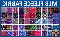 """MLB Fleece Fabric All Teams Sports Collection - 60"""" Wide - S"""