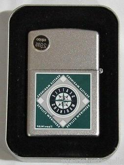 MLB NIB ZIPPO LIGHTER W/GIFT BOX - SEATTLE MARINERS - LOGO I
