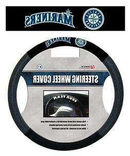 MLB POLY-SUEDE MESH STEERING WHEEL COVER SEATTLE MARINERS