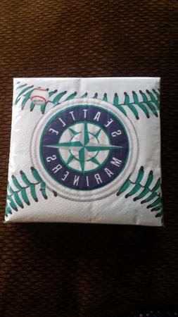 MLB * SEATTLE MARINERS Baseball Party-Beverage Napkins #36 C