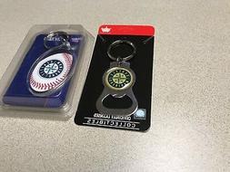 MLB Seattle Mariners Baseball Team Logo Bottle Opener Keycha