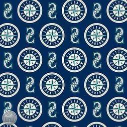 MLB Seattle Mariners Cotton Fabric 6655 B