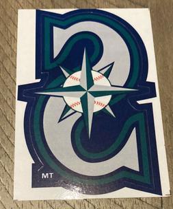 MLB Seattle Mariners Logo Baseball Indoor Decal Sticker Free