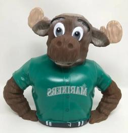 MLB Seattle Mariners Moose Piggy Bank Coin Bank Mariners Mas