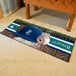 FANMATS MLB Seattle Mariners Nylon Face Football Field Runne