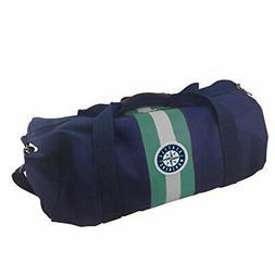 MLB Seattle Mariners Rugby Duffel Bag, Blue