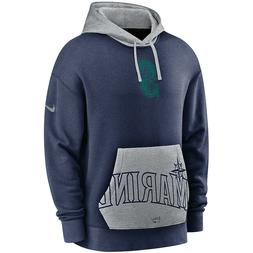 New 2020 Nike Seattle Mariners Heritage Tri-Blend Pullover H