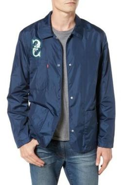 NEW! Levi's MLB Seattle Mariners Club Coat Windbreaker Jac