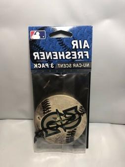 New MLB Seattle Mariners Hanging Car Air Freshener 3 Pack Nu