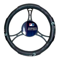 New MLB Seattle Mariners Steering Wheel Cover Universal 14.5