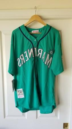 NWT Retro Ken Griffey Jr Seattle Mariners Green MLB Jersey M