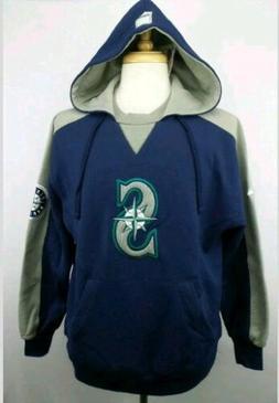 NWT Vintage Majestic MLB Seattle Mariners Hoodie Sweater Siz