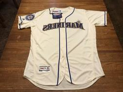 NWTs Authentic Seattle Mariners Alternate IVORY Flex Base Je