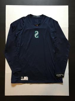 Nike Pro Dri-Fit Seattle Mariners Arm Fleece Fitted L/S Shir