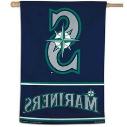SEATTLE MARINERS ~  Official MLB 28x40 Outdoor House Flag Ba