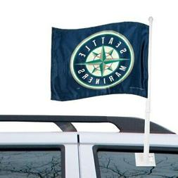 "Seattle Mariners 11"" x 15"" Navy Blue Car Flag"