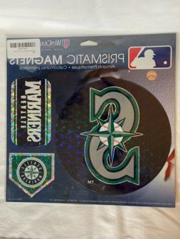 """Seattle Mariners 11""""x11"""" Prismatic Magnet Sheet  3 Magnets M"""