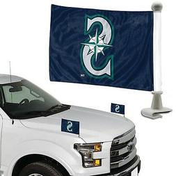Seattle Mariners 2-Pack Ambassador Style Auto Flag Car Banne