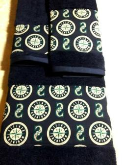 Seattle Mariners 3 Piece Bath Towel Set Handmade Great Gift!
