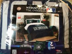 Seattle Mariners 3 piece Grandslam Full/Queen Comforter Bedd