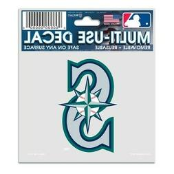"""SEATTLE MARINERS 3""""X4"""" MULTI-USE DECAL PERFECT FOR CAR WINDO"""