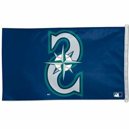 SEATTLE MARINERS 3'X5' HOUSE FLAG WALL BANNER MLB LICENSED U