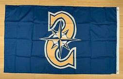 Seattle Mariners 3x5 ft Flag Banner MLB Retro Vintage Throwb