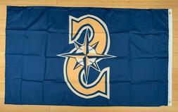 Seattle Mariners 3x5 ft Flag Banner MLB Retro Vintage Throwb