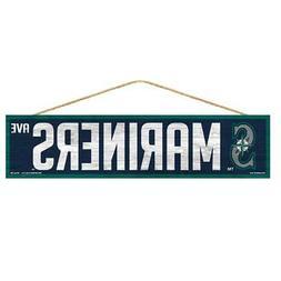 "Seattle Mariners 4""x17"" Wood Sign Avenue Design  MLB Street"