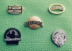 SEATTLE MARINERS 5 PIN SET FREE SHIPPING ACCEPT NO OFFERS BI
