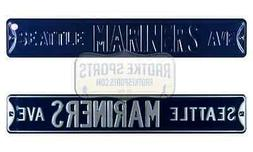 Seattle Mariners Ave MLB Licensed Authentic Steel 36x6 Blue