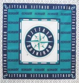 "Seattle Mariners Baseball Fabric Star Logo Cotton 15.5"" x 16"