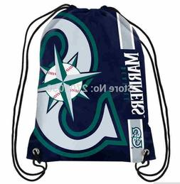 Seattle Mariners Baseball Logo Drawstring Bags Men Sports Ba